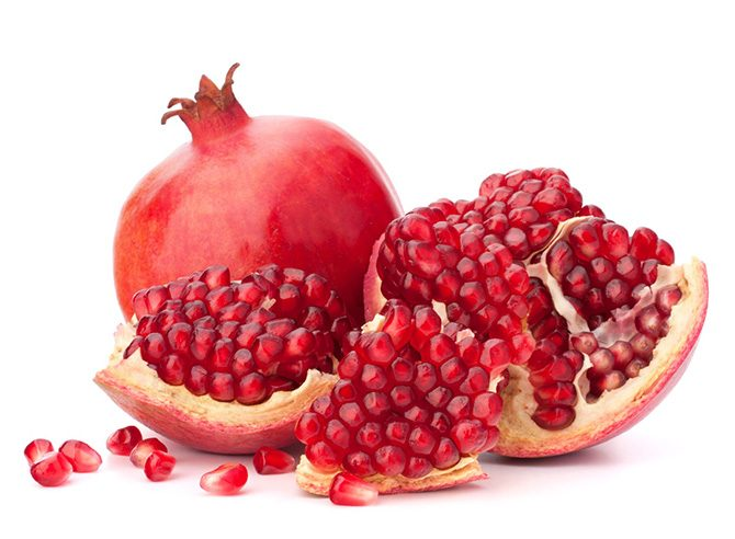pomegranate chapped lips
