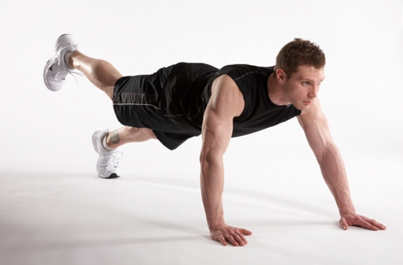 walkout pushup position